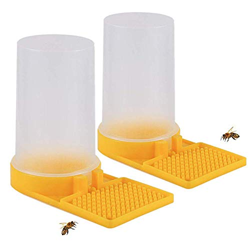 SNOWINSPRING 2Er Pack Bienenstock Imkerei Wasser Spender Honig Bienenstock Eingang Futter Automat Bienen Trinken Imkerei AusrüStung Nest Imker Werkzeug