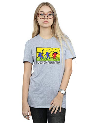 DC Comics Mujer Batman Pop Art Camiseta del Novio Fit Deporte Gris XXX-Large