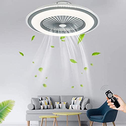 Ventilador De Techo Con Iluminación Moderno Lámpara De Techo LED 80W Regulable Con Control Remoto Ventilador Silencioso Invisible Luz Dormitorio Sala De Estar Habitación Infantil Fan Luz De Techo