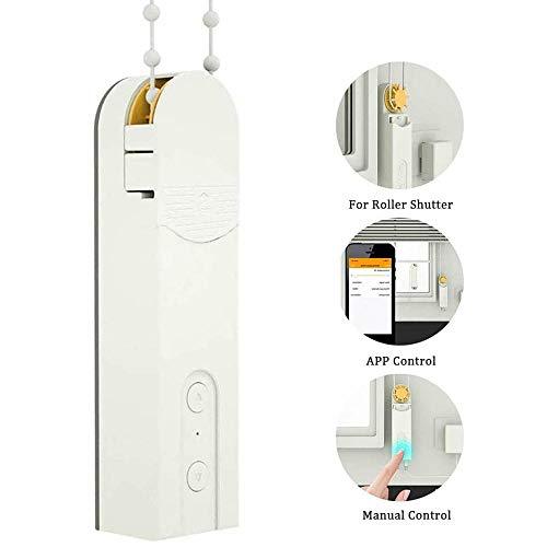 jdiw Motorisierter Autorollenschirm mit Bohnen oder Kordelkette,Smart Jalousien-Motor Home Automatisierung,unterstützt App Timer Fernbedienung