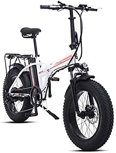 Bicicleta electrica, 500W 4.0 Neumáticos de grasa Neumático Bicicleta eléctrica Bicicleta de nieve de la playa para adultos, scooter eléctrico 7 veloz Engranaje Ebike con removible 48V15A batería de l
