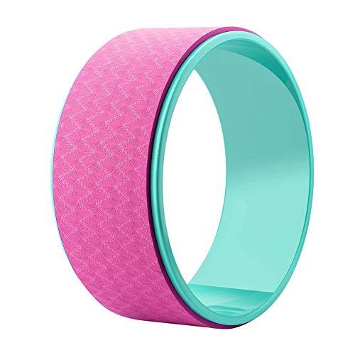 N / E Rueda de yoga, rueda de ejercicio, accesorios de yoga para ayudar a estirar, flexibilidad, flexión trasera e inversiones, equipo de gimnasio en casa