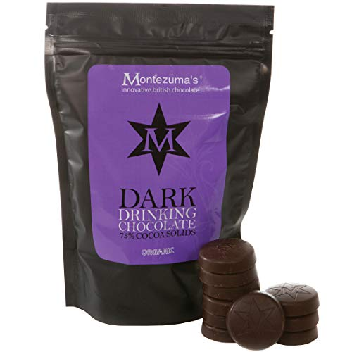 Montezuma's, Blend No.1, 73% Cocoa Dark Drinking Chocolate Disks, Gluten-free, Vegan and Organic 300g Bag