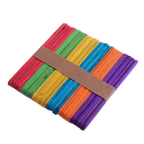 Exceart 200 Piezas de Palos de Paletas de Madera de Color Artesanal...