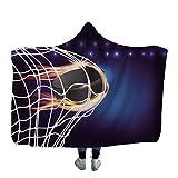 Hcxbb-1 Jeter une couverture à capuche en molleton molle hockey camouflage hockey imprimer délivrance quilts literie voiture voyage chambre portable (Color : C3, Size : 130X150cm)