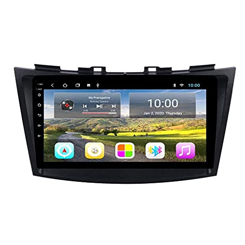 ZHANGYY Nav GPS Bluetooth Android Audio Media Car Radio Player Navegación - Aplicable Compatible con Suzuki Swift 2010-2015, Auto Speaker Video Car Stereo Multimedia FM 9 Pulgadas
