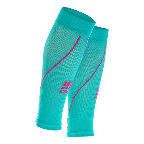 CEP - CALF SLEEVE 2.0 | Beinstulpen für Damen in türkis / pink | Größe IV | Beinlinge für exakte Wadenkompression