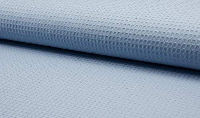 100% Baumwolle Waffel Bienenwabe Pique Stoff - Dusty Blau - Blau, 10Mtr - 1000cm x 150cm