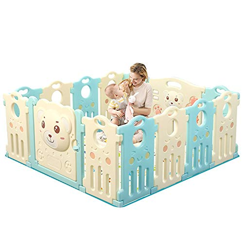 Best Deals! Portable Playard Foldable Baby Playpen Kids Activity Centre Safety Play Yard Home Indoor...