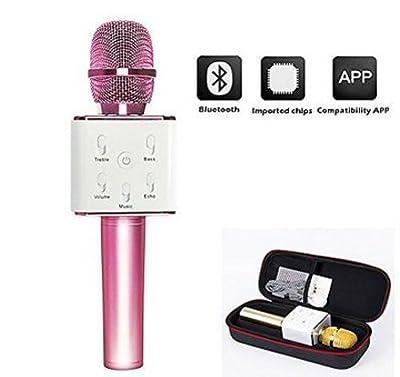 New Bluetooth Portable Luxury karaoke Microphone with Adjustable Settings