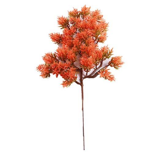 LbojailiAi Artificial Flower 1 Pieza de pl¨¢Stico Falso Artificial de cipr¨¦s de Pino Bonsai Garden Home Office Decor - Rojo