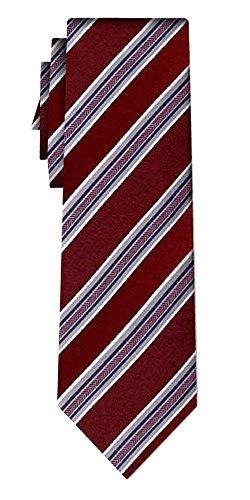 Cravate soie rayée stripe burg