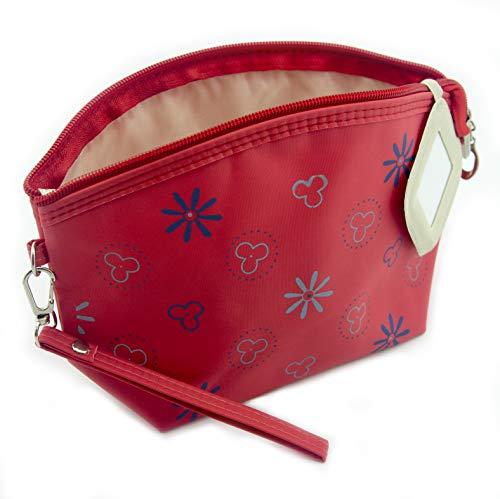 HAND Main ® Pretty Red Motifs imperméables Sac de Maquillage/étui à Crayon avec miroir-230 x 140 mm