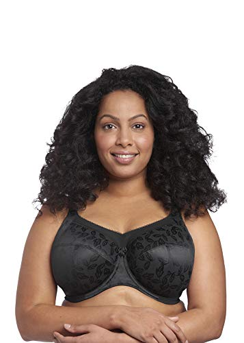 GODDESS Women's Plus-Size Petra Full Cup Underwire Banded Bra Bra, Black, 34I