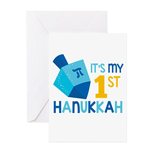 CafePress It's My 1St Hanukkah Greeting Cards Greeting Card, Note Card, Birthday Card, Blank Inside Matte