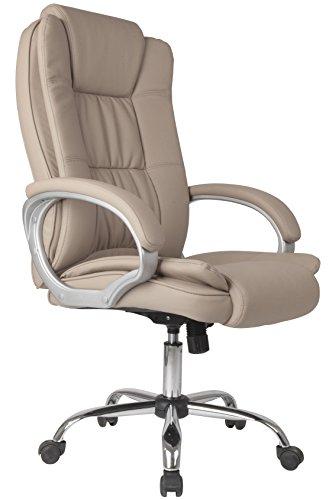 Venta Stock Confort 2 - Sillón de oficina elevable y reclinable, piel sintética, color taupe