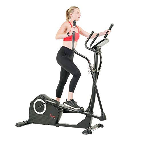 Sunny Health & Fitness Programmable Cardio Elliptical Trainer - SF-E3890, Black
