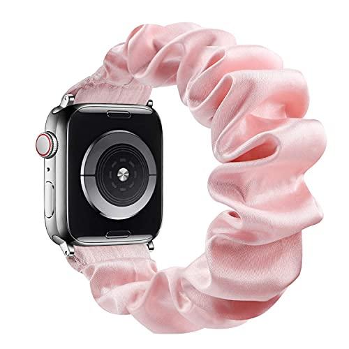 Fengyiyuda Correa Compatible con Apple Watch 38mm 40mm 42mm 44mm,Scrunchie Tela Correa con Elástica de Repuesto Compatible con Iwatch Serie 6/SE/5/4/3/2/1