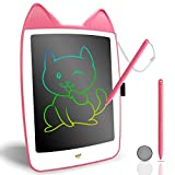 CUTE LIFE LCD Drawing Doodle,10inch Colorful Drawing Tablet Writing Pad,Board for 3 4 5 6 7 Year Old Girls Gifts Boys Girls, Erasable Reusable Electronic Drawing Pads(Pink)