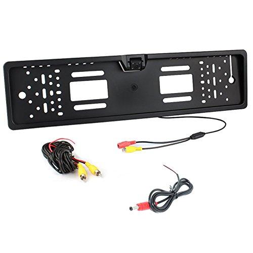 Auto Wayfeng® Universal européenne License Plate Frame Waterproof Caméra de recul avec 4 IR LEDS