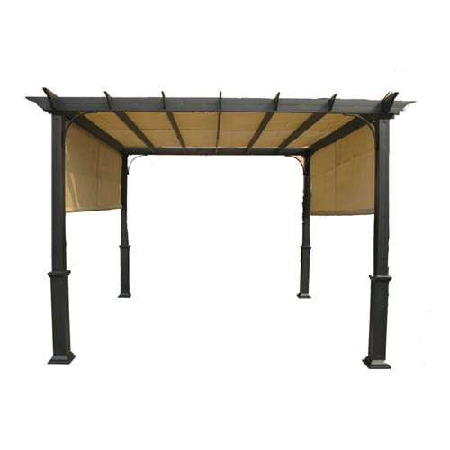 Garden Winds GT 10 FT Pergola Replacement Canopy Top Cover - RipLock 350