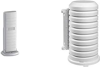 TFA Dostmann TFA Dostmann Temperatursender, 30.3147.IT, kabellose Übertragung, zur Temperaturkontrolle & Schutzhülle für Sender Artikel, 98.1114.02, leicht zu montieren, weiß