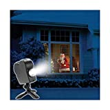 Christmas Projector, Led Holographic Projection Lamp, 12 Film Festivals, Used for Christmas and Halloween Outdoor Garden Decoration Family Outdoor Party