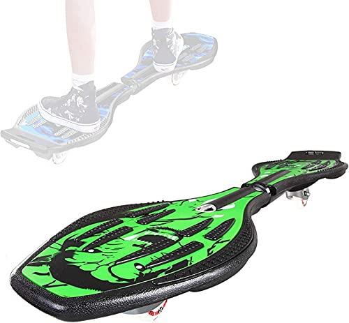 LOKKR Kinder Vitality Board, 2-Rad Swing Wave Board, professionelles wasserdichtes Skateboard mit blinkenden LED-Lichtern, Jugend Skateboard, personalisiertes Kinderspielzeug