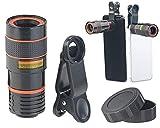Somikon Teleobjetivo: Lente telefoto para conexión de teléfono Inteligente con Aumento óptico de 8X (teléfono móvil Lente)