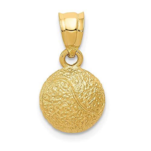 14ct Yellow Gold Tennis Ball Pendant