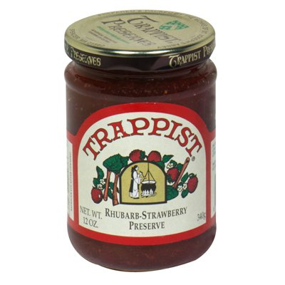Trappist shopping free shipping Preserve Preseves Rhubarb-Straw 12-Ounce of Pack 6