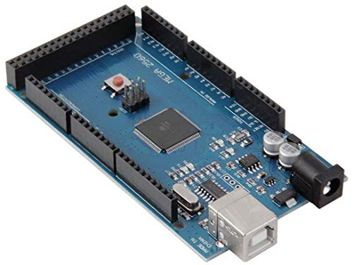 TECNOIOT Mega 2560 R3 Board 100% Compatible   Mega 2560 R3 Tarjeta Mega 2560 Placa con Microcontrolador Basada en el ATmega2560 ATMEGA16U Placa de Desarrollo Compatible con Mega Kit