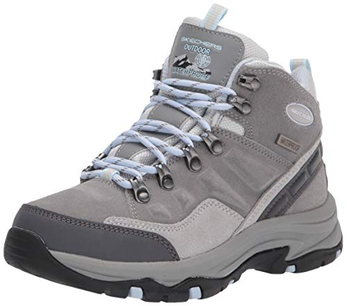 Skechers Waterproof Damen Wanderstiefel Trego TOCKY Mountain Grau, Schuhgröße:EUR 38