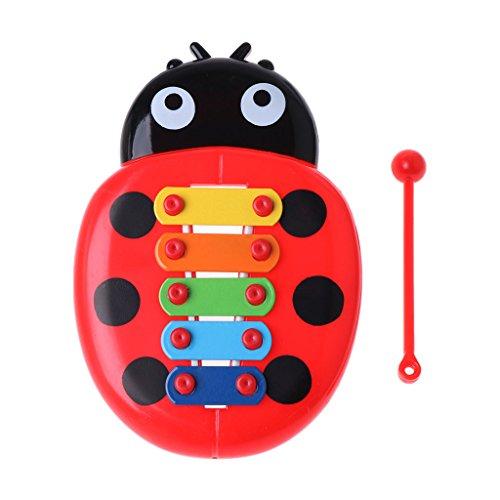 lijun Cute Ladybug Baby Puzzle Insectos Piano Instrumento Musical Juguete Juguete Educativo