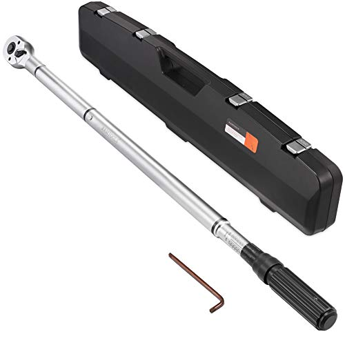 RIMKOLO 3/4-inch Drive Click Torque Wrench Dual-Direction Adjustable Torque Wrench Set with Buckle with Screwdriver (100-600ft.lb / 135-815Nm)