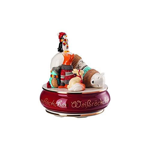 """Hutschenreuther Weihnachtslieder 2019"""" Schneeflöckchen, Weißröckchen Ø 14 cm/Höhe: 16 cm (limitiert auf 999 Exemplare) Spieluhr groß, Porzellan, Bunt"""