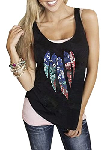 Camisetas sin Mangas Sueltas para Mujer, Camiseta Informal sin Mangas, Blusa con Cuello Redondo, Camiseta básica con Estampado de Verano