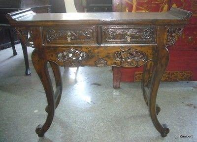 Antiker Sekretär Schreibtisch Sideboard Kommode Kommodentisch mit 2 Schubladen Breite110xHöhe90cm