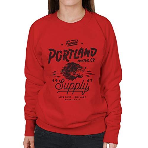 Verdeel & Verover Portland Motor Co Dames Sweatshirt