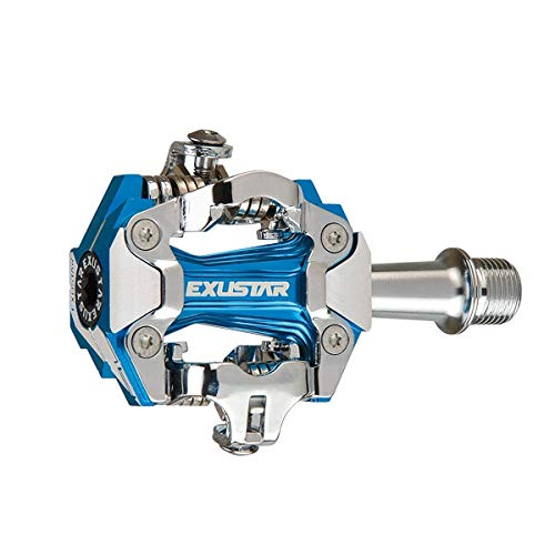 Exustar MTB PM230, Pedal de Ciclismo Unisex Adulto, Azul anodizado, 162 g