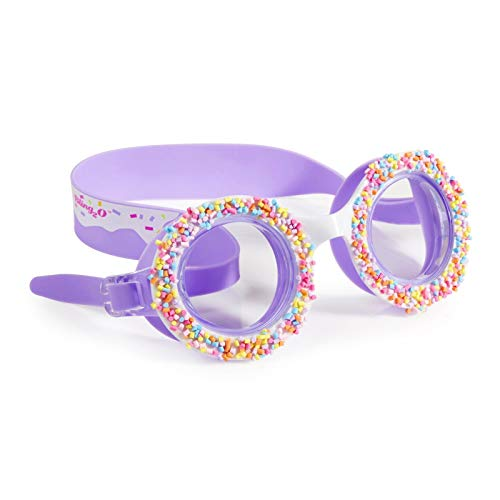 Bling 2O Kids Swimming Goggles - Swim Goggles for Girls - Anti Fog, No Leak, Non Slip, UV Protection with Hard Travel Case - 8+ (Grape Jelly)