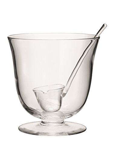 LSA International Serve Punchbowl O9.75in & Ladle Clear, 9.75'
