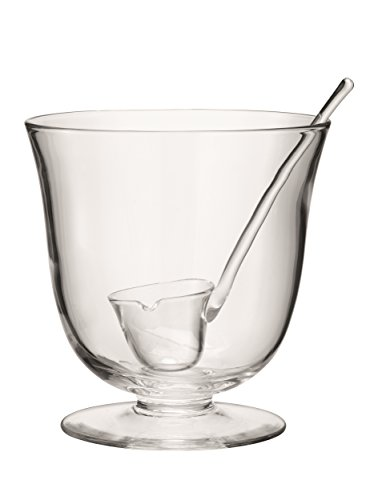 LSA International Serve Punchbowl O9.75in & Ladle Clear, 9.75""