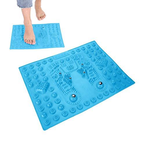 Fußmassage-Pad, Akupressur Shiatsu Fussreflexzonenmassage Fußmassage mit Magnet zum Entspannen von Druck und Fußbeinschmerzen Geeignet für Männer und Frauen im Gesundheitswesen(Blau)