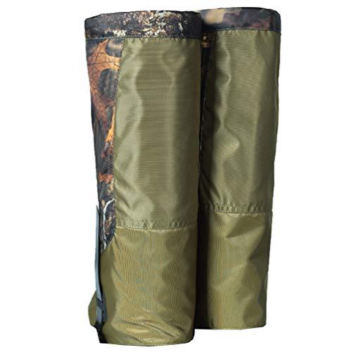 CLISPEED 1 par de Polainas para Las Piernas Polainas Ajustables Impermeables para Botas de Nieve para Senderismo Caza Escalada Raquetas de Nieve Camuflaje Verde
