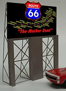 5061 Model Route 66 Neon Lighted Roadside Billboard by Miller Signs