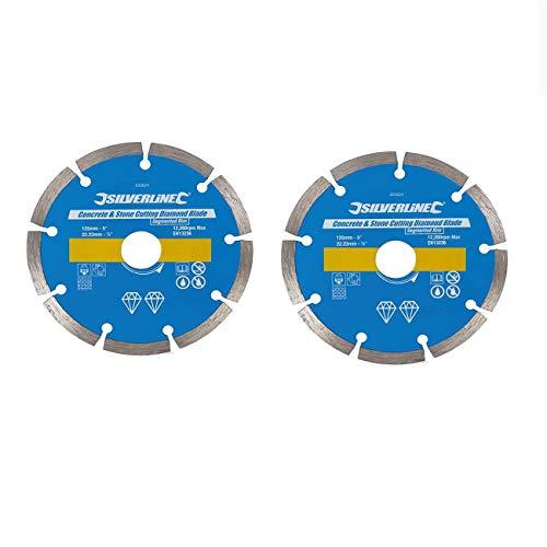 2 Stück Ersatz Diamant Trennscheiben Diascheibe passend für Mauernutfräse Einhell BT MA 1300 / TH MA 1300 / SCHEPPACH MNF 1400 / PARKSIDE PMNF 1350 / STAYER CD 125