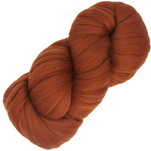 Living Dreams Air Merino Super Bulky Chunky Wool Yarn. Thick Pencil Roving Yarn for Needle Knitting and Crochet. Made in USA, Rust -  Living Dreams Yarn, AirMerRust