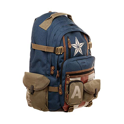 Marvel Marvel Avengers Captain America Rucksack Überraschungsrucksack Casual Fashion Student Computer Bag-Captain America Schultasche