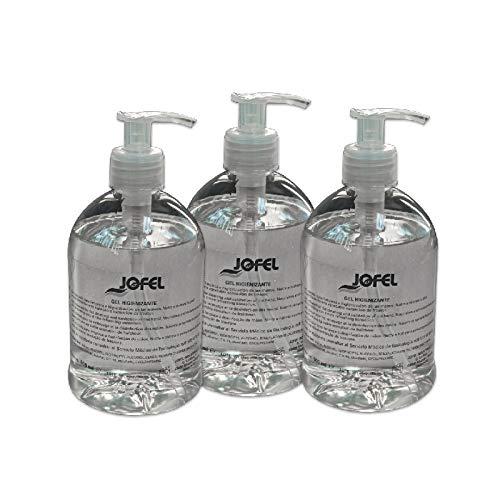 Jofel AT50503 - Gel hidroalcohólico - Pack 3 botellas, 3 x 500 ml